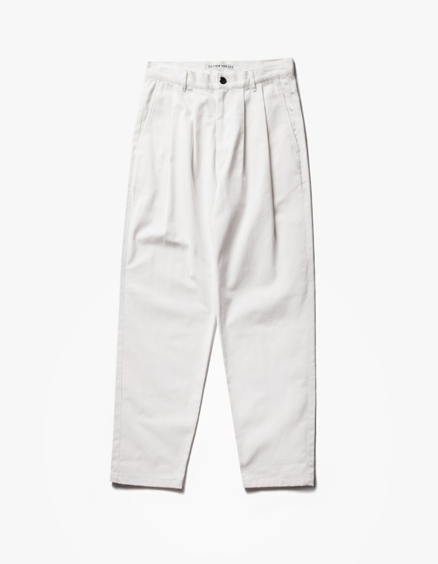 Wide Chino Pants - Off White