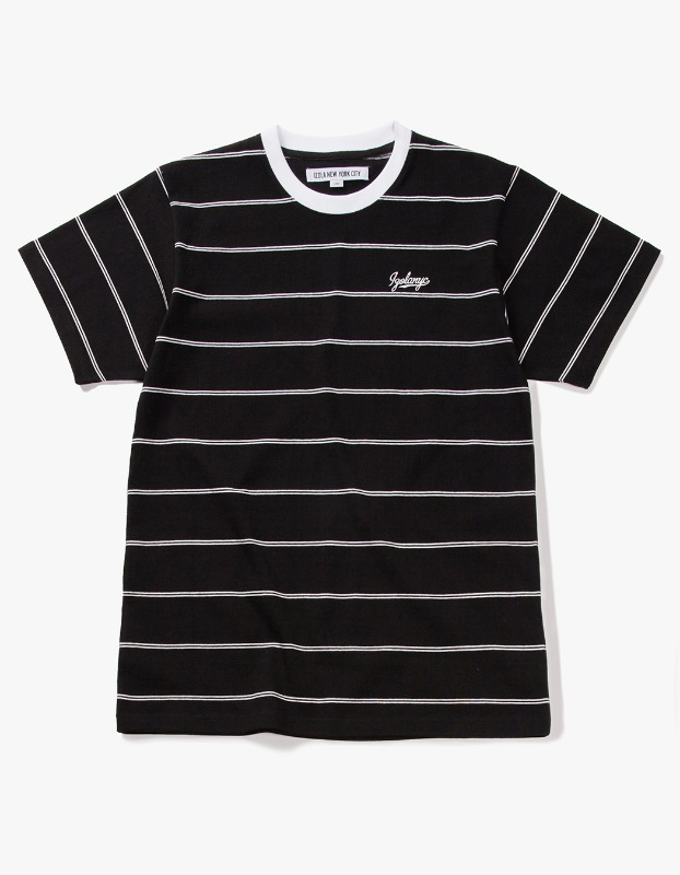 Pin Stripe S/S Tee - Black