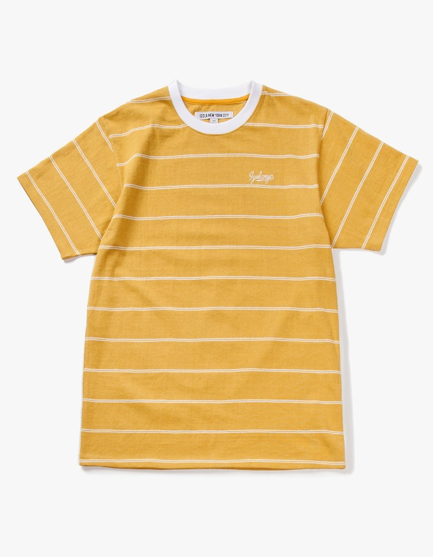 Pin Stripe S/S Tee - Yellow