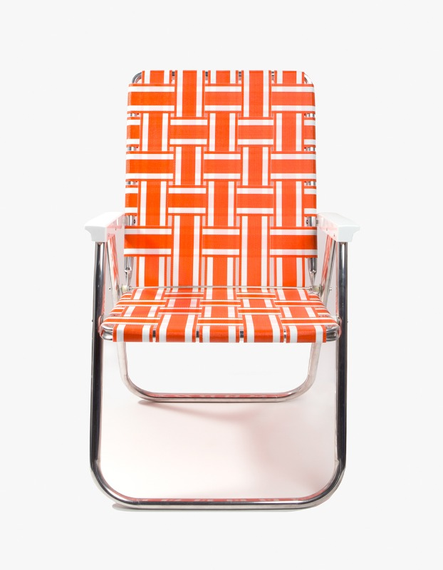 Orange/White Stripe Classic Chair