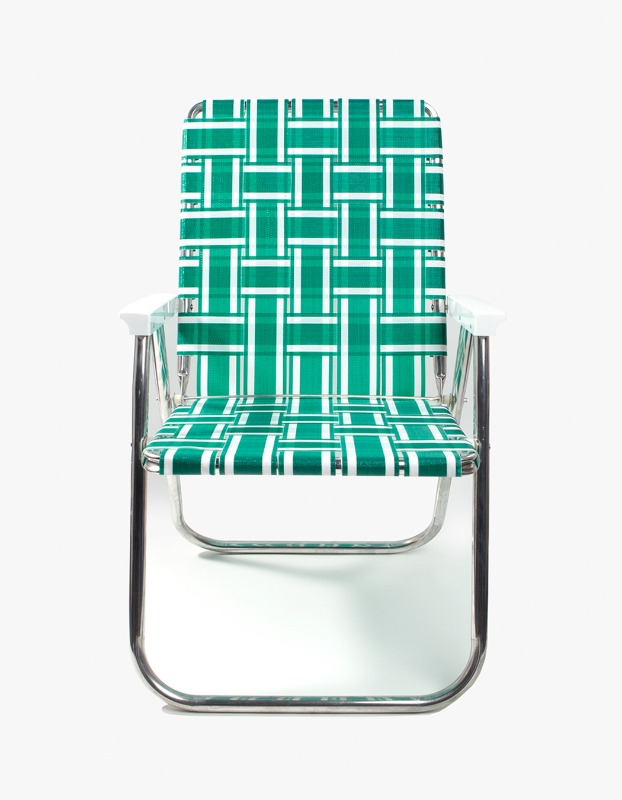 Green/White Stripe Classic Chair