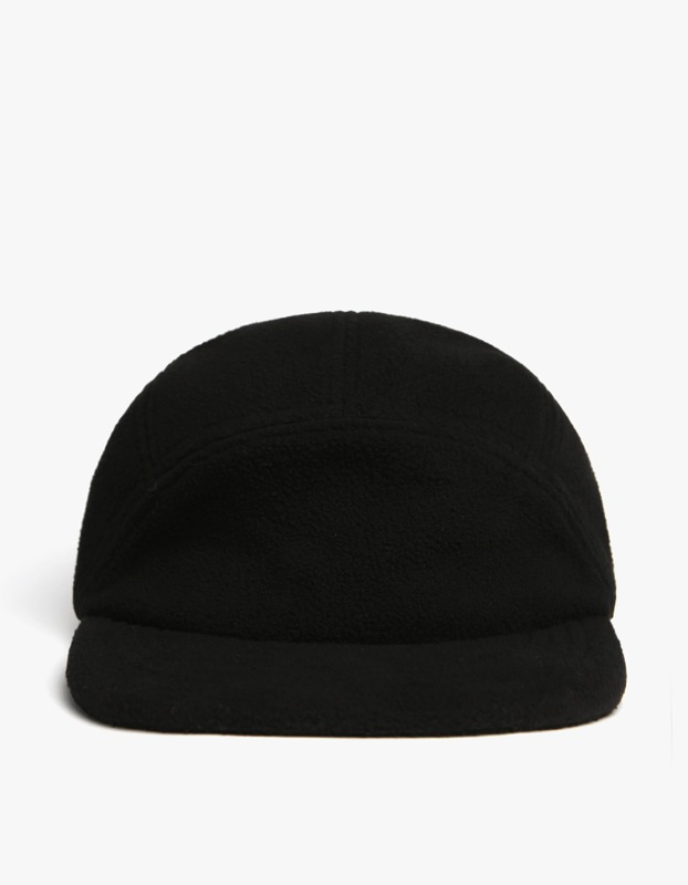 Fleece Pullvord Camp Cap - Black