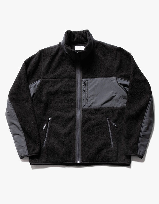 Sherpa Fleece Jacket - Black