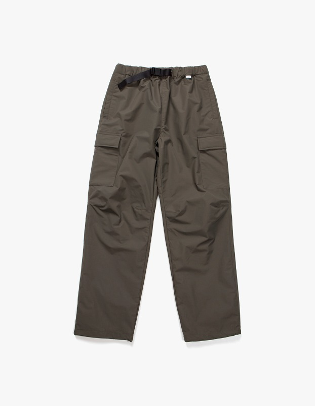 Belted Nylon Cargo Trouser - Olive