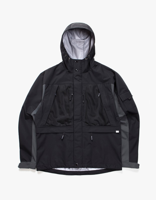 3 Layer Mountain Parka - Black/Grey