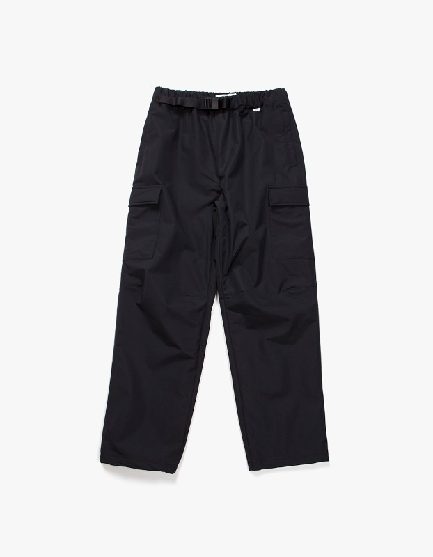 Belted Nylon Cargo Trouser - Black