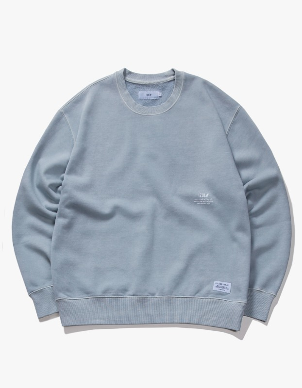 Over Dyed Crewneck -Powder Blue
