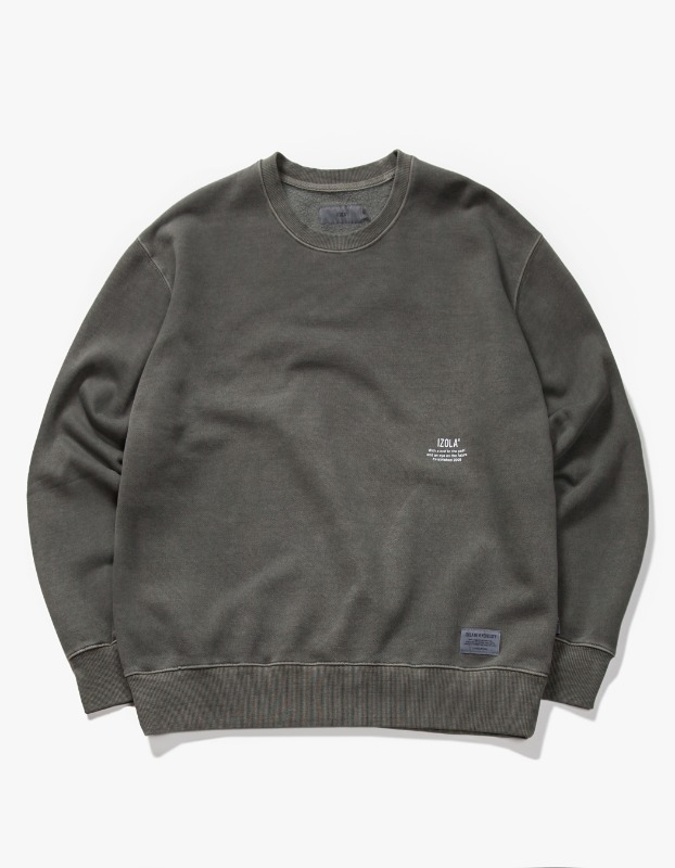 Over Dyed Crewneck - Charcoal